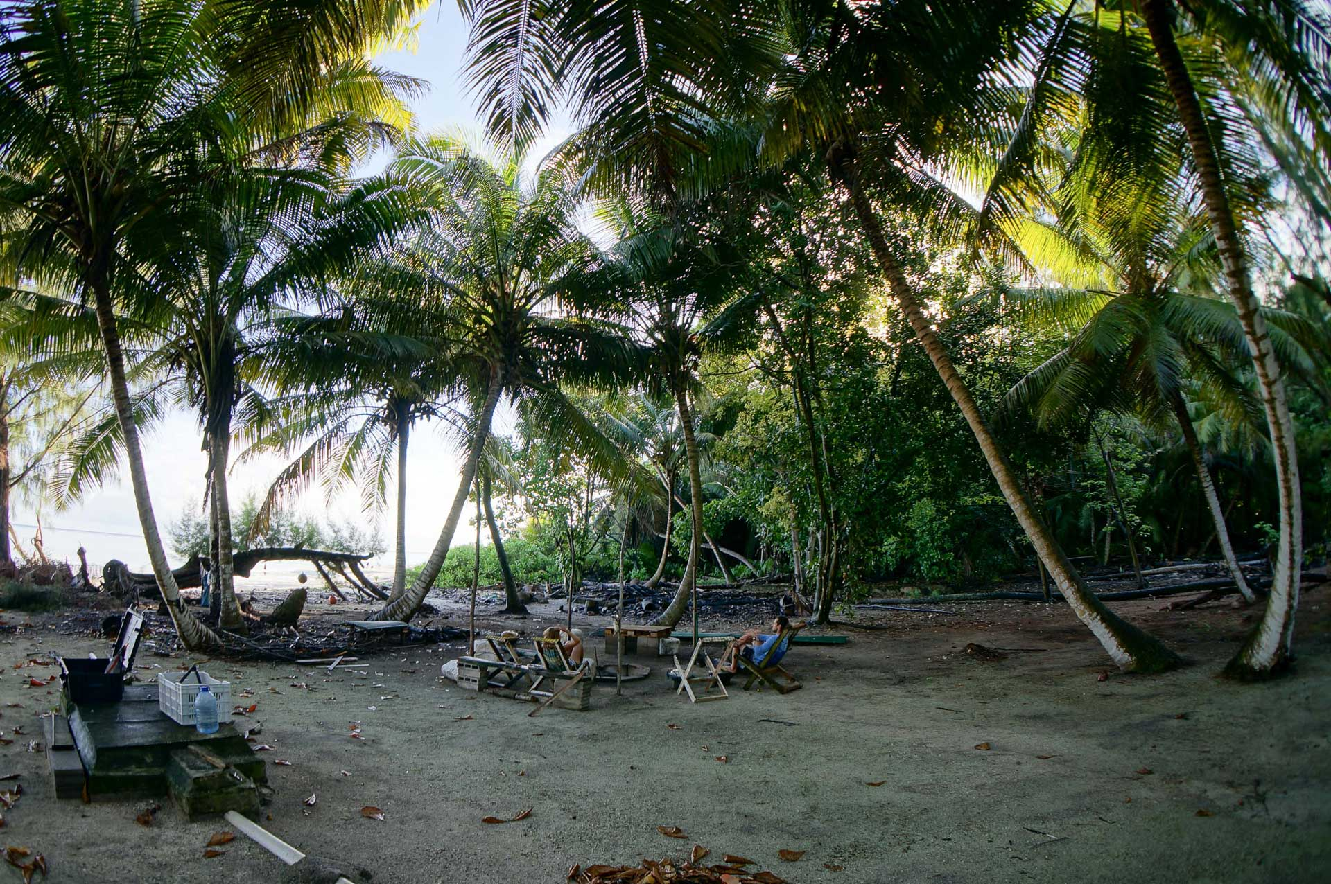 A rustic camp on neighboring St Joseph Island provides a research outpost for the majority of our fieldwork. Photo by Clare Daly | © Save Our Seas Foundation