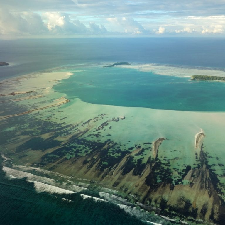 D'Arros Island and St Joseph Atoll lie in the remote Western India Ocean about 250 kilometres from Mahé, the most populous island in the Seychelles. D'Arros and St Joseph are separated by a narrow, 70-metre-deep channel. Photo by Michael Scholl | © Save Our Seas Foundation