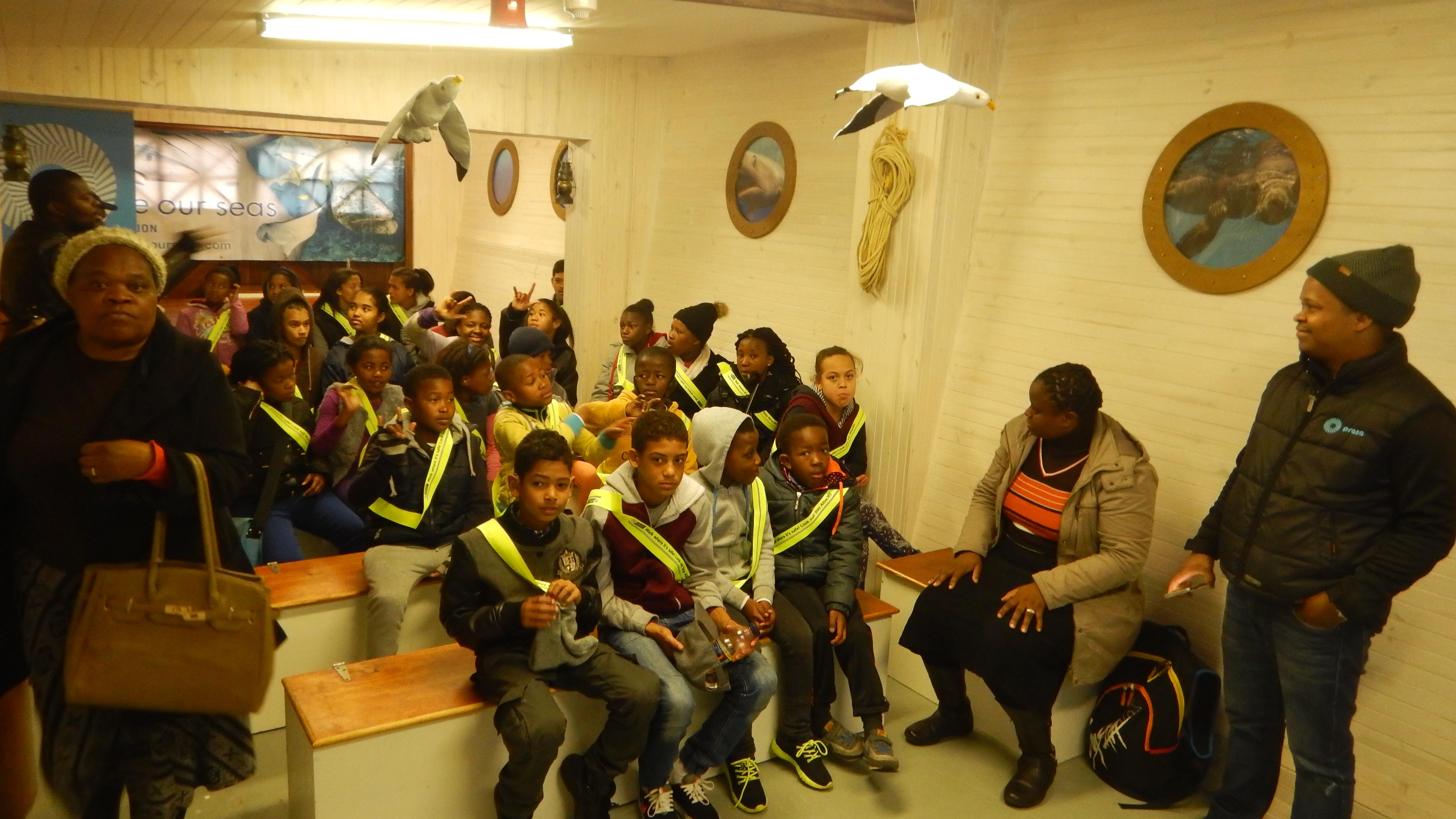 Learners waiting for their Shark Talk