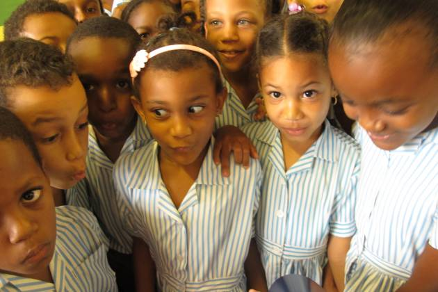 Beau Vallon primary students express their views on the Lost World.
