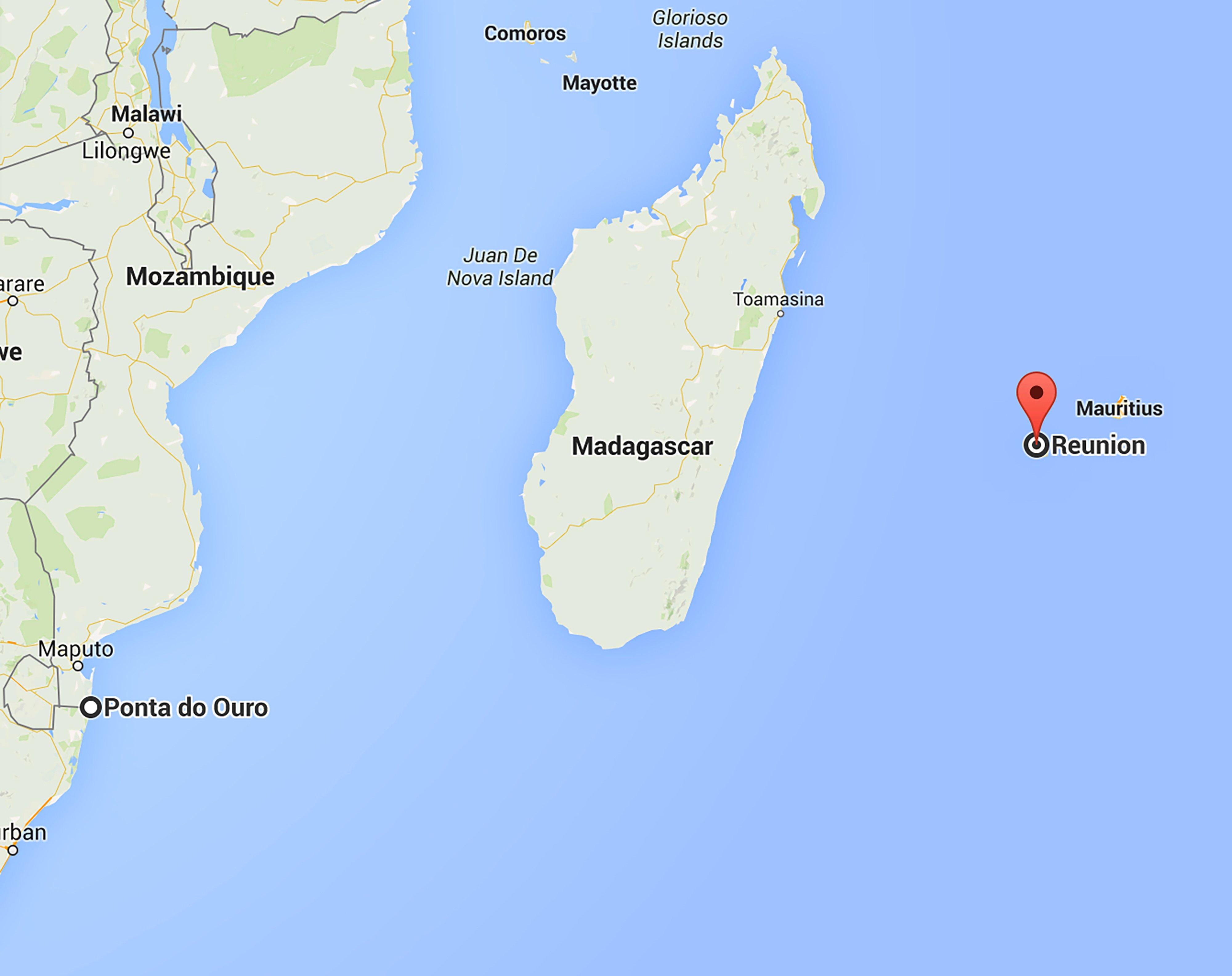 Reunion Island Africa Map