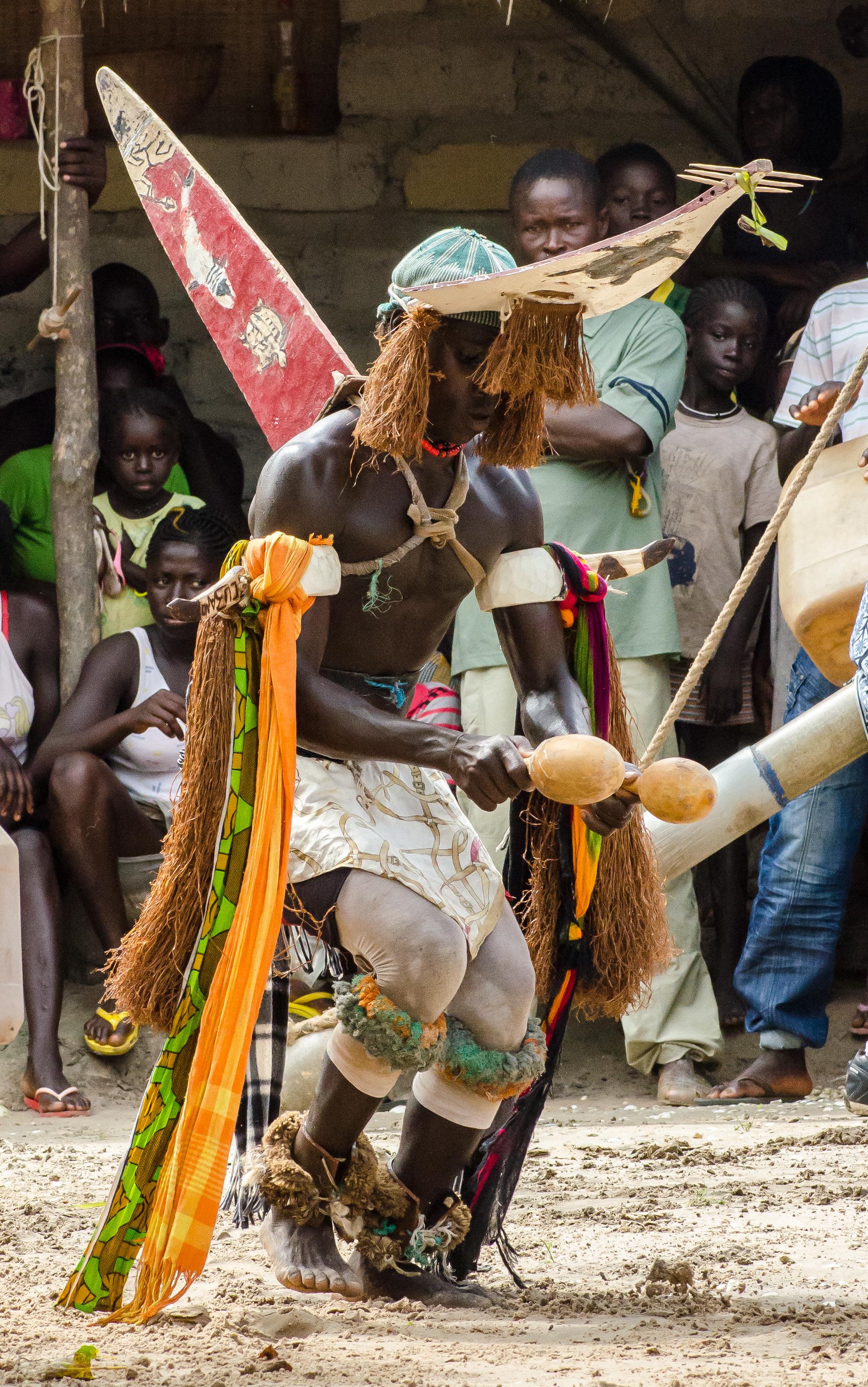 Bijagos-islander with headdress.