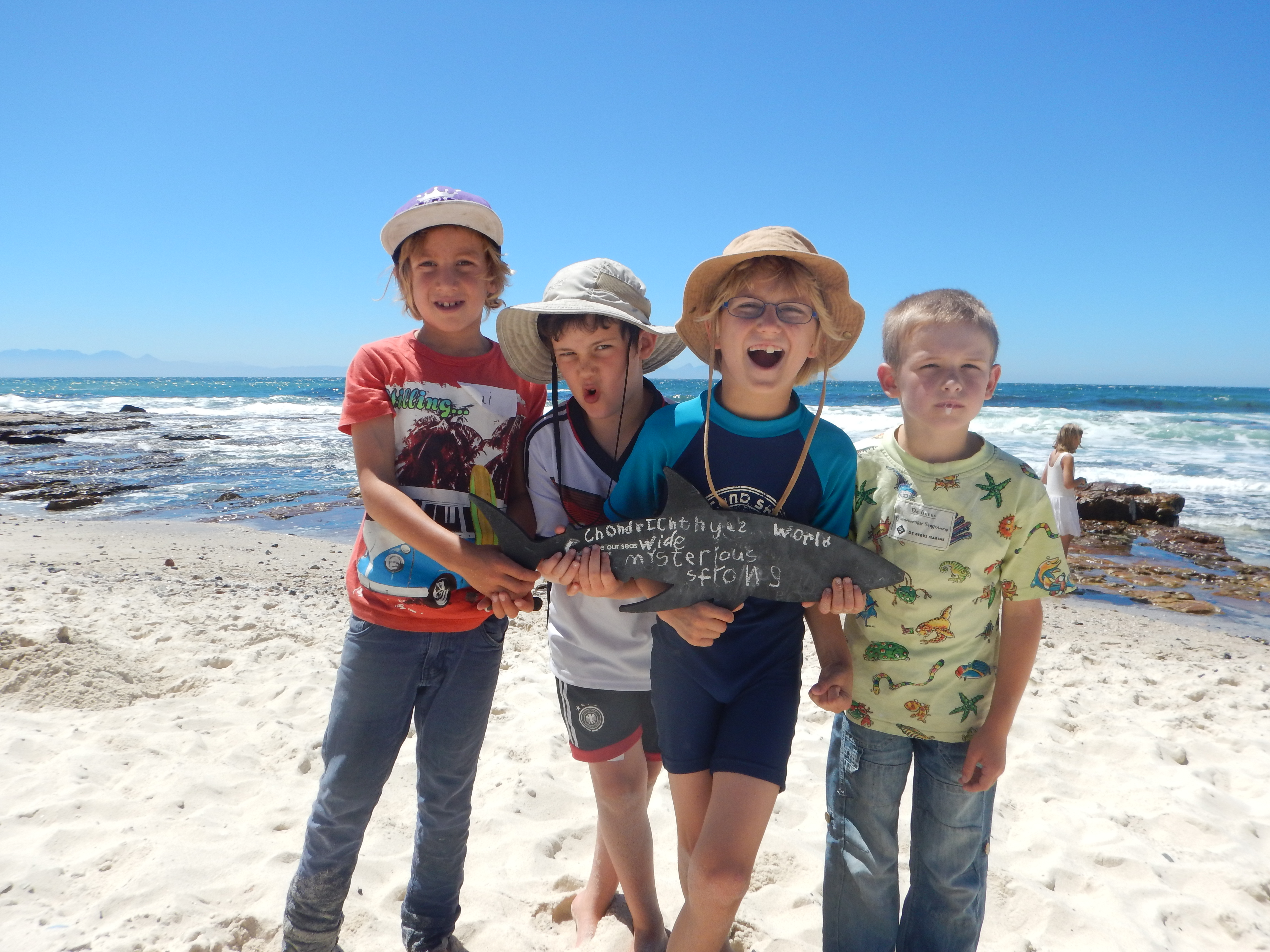 Our holiday club kids learning about the oceans on the rocky shores at the Dalebrook Marine Protected Area