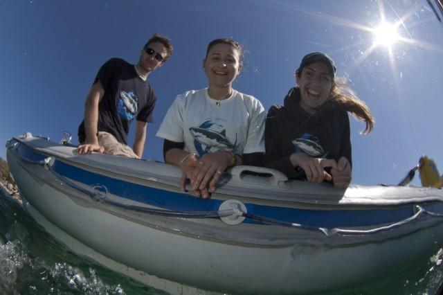 Ralph Watson, Carolyn Sanguinetti and Lauren De Vos soaking up some sunshine. Photo courtesy Steve Benjamin