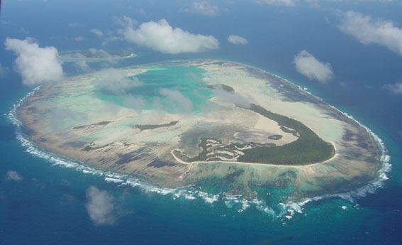 The stunning St. Joseph's atoll with D'Aross island behind