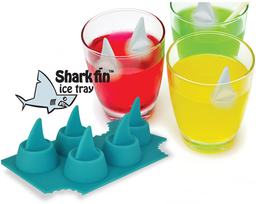 Shark fin ice cube tray. <a href=