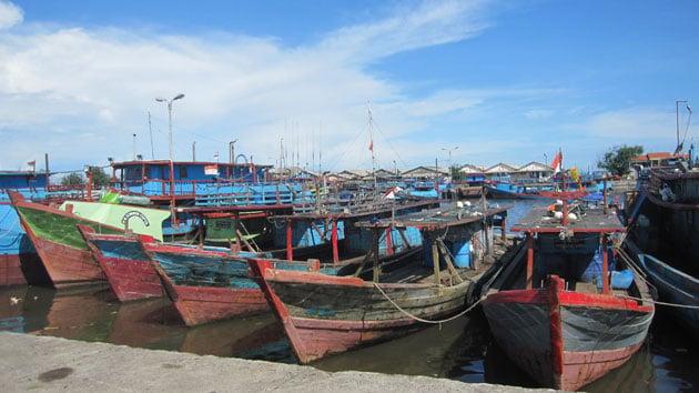Cilacap gillnet fishing boats. Photo copyright Sarah Lewis