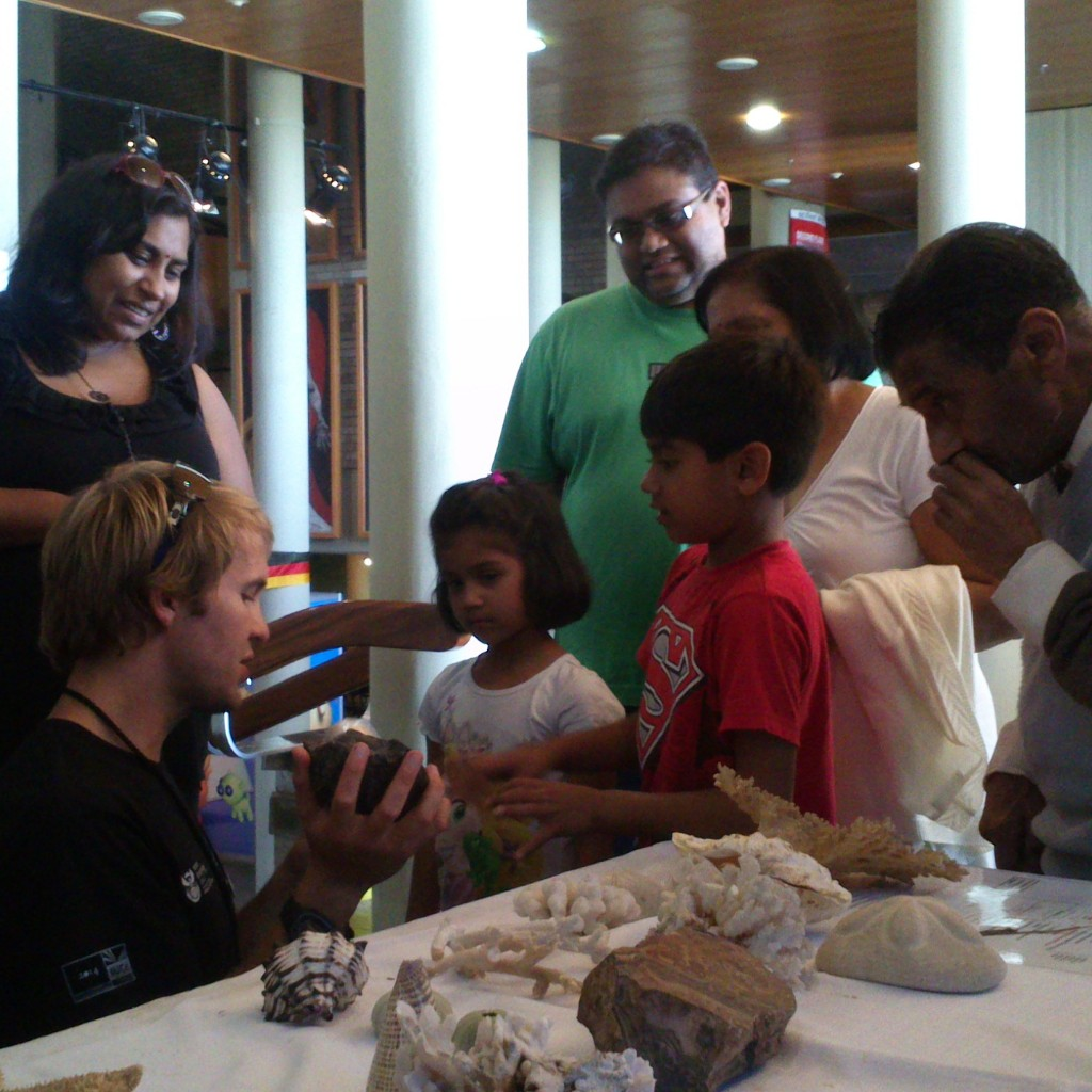 UCT PhD student and ocean lover, Morgan Brand, introduces this family to the tale of an ancient ammonite fossil