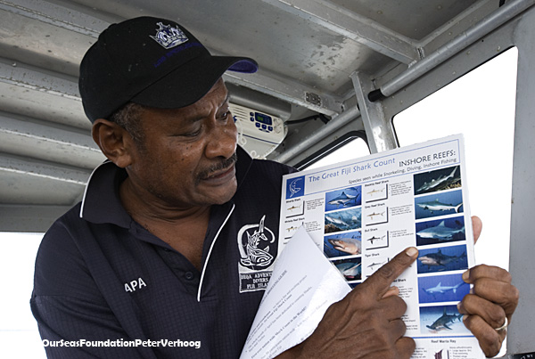 The briefing before the dive: which sharks? © Save Our Seas/Peter Verhoog