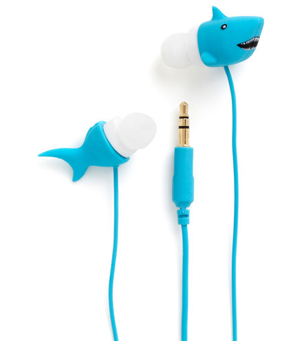 Shark earphones. <a href=