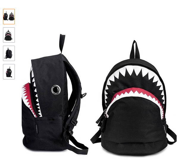 The CrazyPomelo Big Shark Cartoon Backpack. <a href=