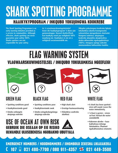 Shark Spotter flag and siren protocol