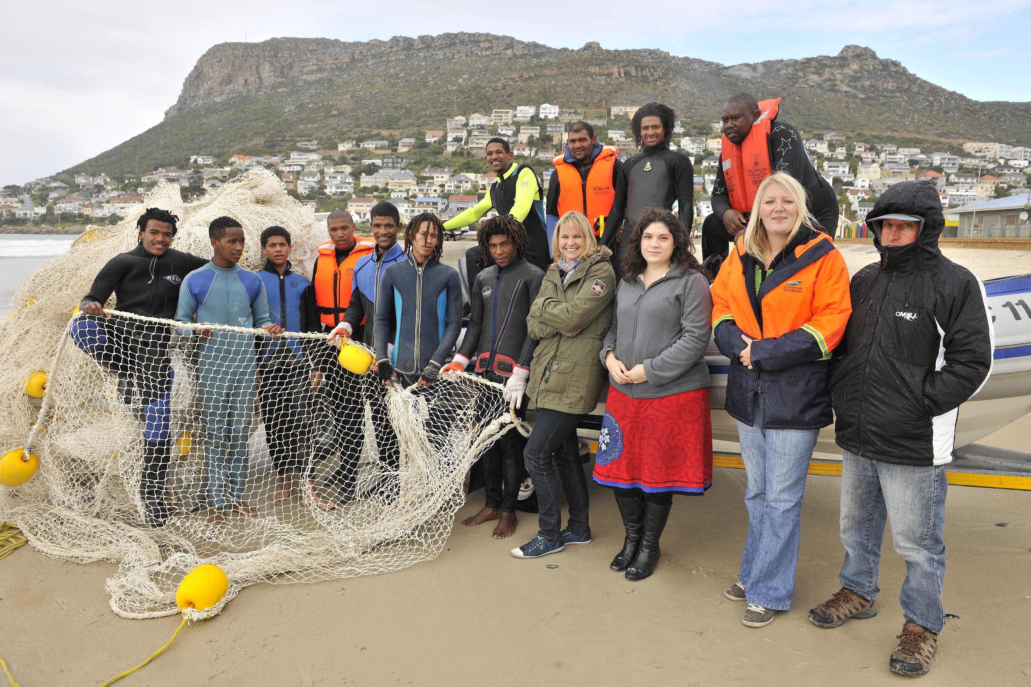 The team responsible for the successful Fish Hoek shark exclusion barrier.