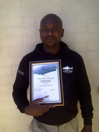 Monwa's award from the local council