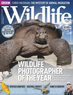 Photo (Left): The cover of BBC Wildlife magazine featuring one of Tom's images from Aldabra