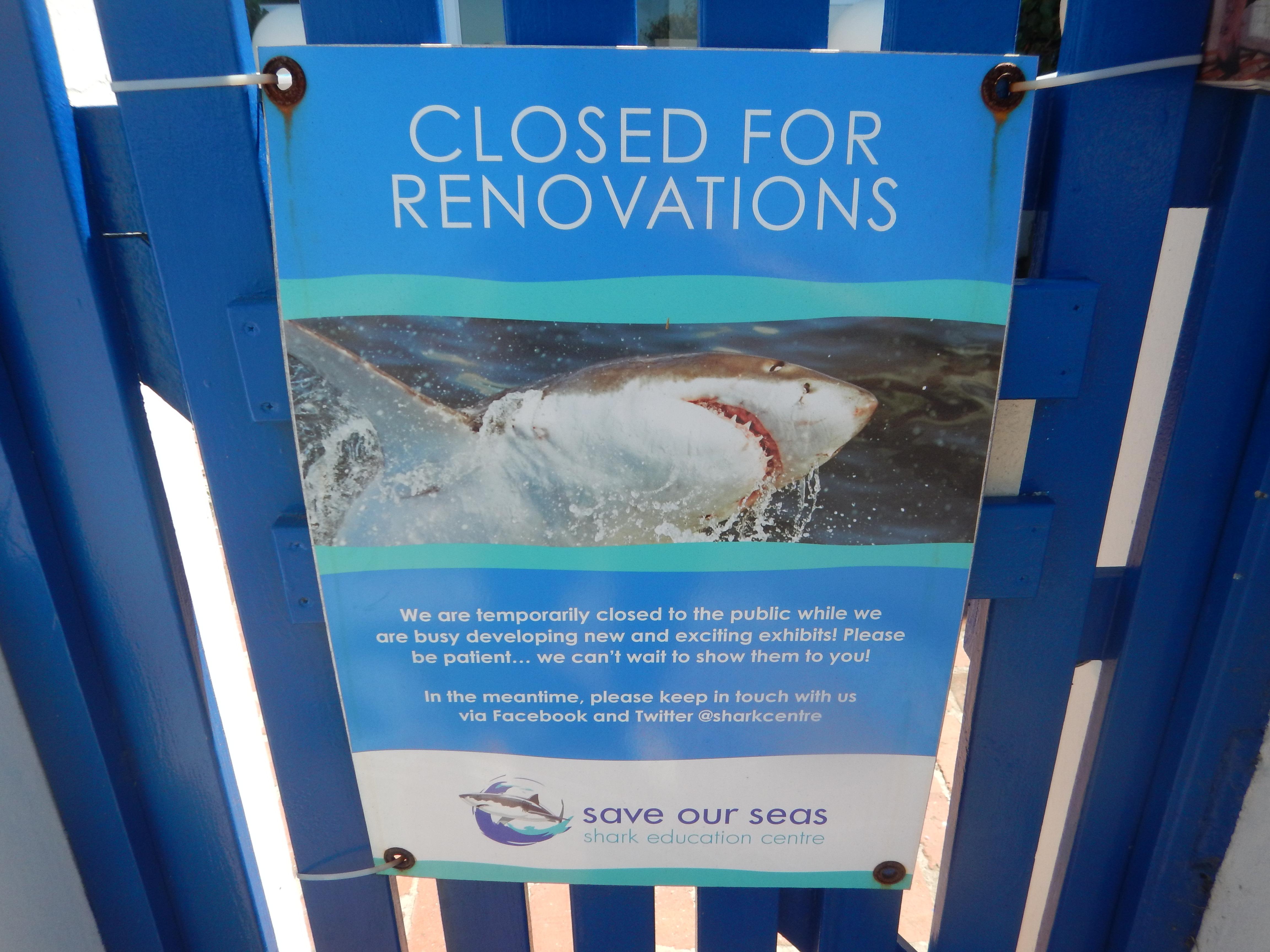 renovations sign