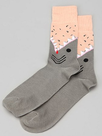 Shark Socks from Urban Outfitters. <a href=
